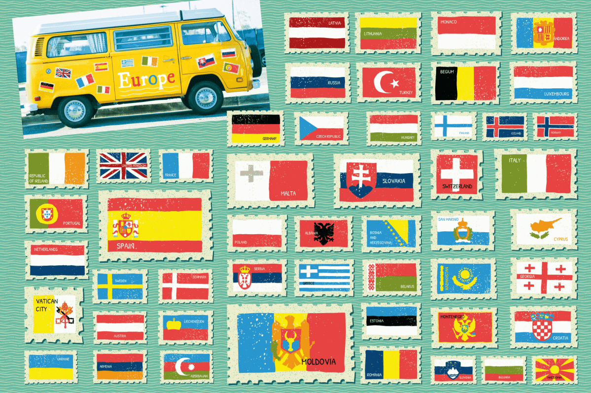 Illustrated Flags of the World - Vectors by Wingsart Studio