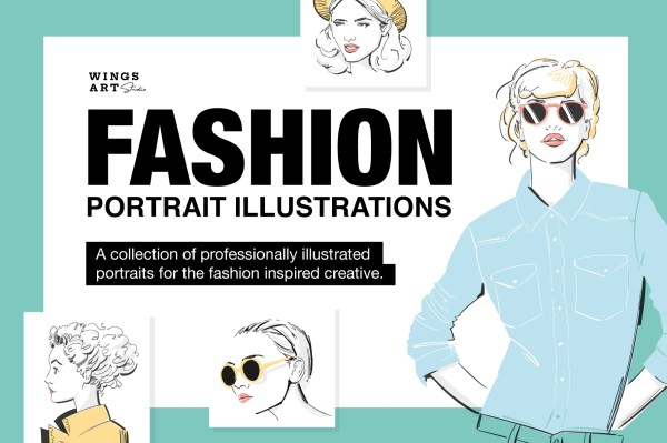 Fashion Portrait Illustrations