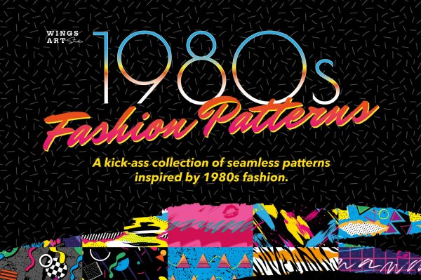 1980s Retro Fashion Patterns Vol:1