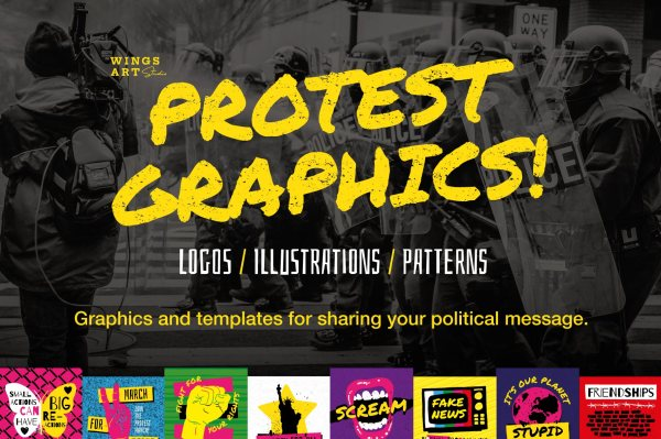 Protest Graphics and Templates by Wing's Art Studio
