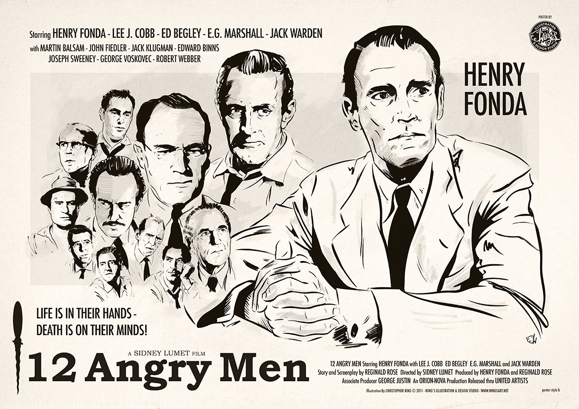 12 Angry Men Film Poster by Christopher King