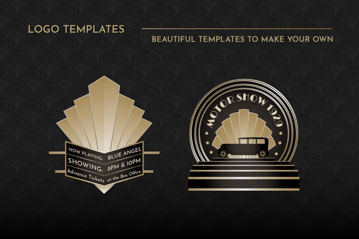 Art Deco Logo Templates Vol 1