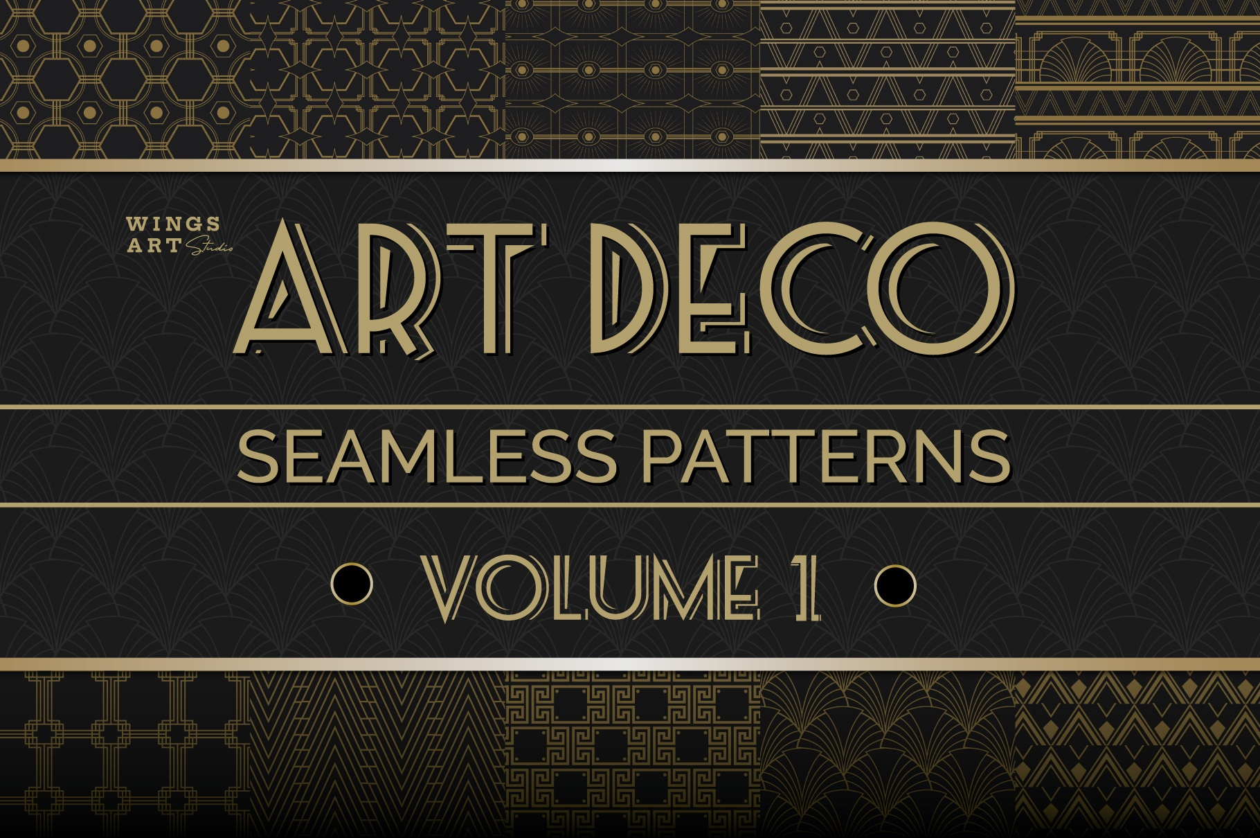 Free Art Deco Seamless Patterns Vol 1_Cover