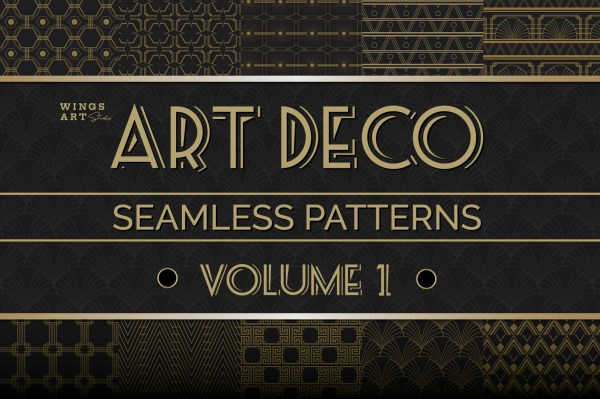 Art Deco Seamless Patterns Vol 1_Cover