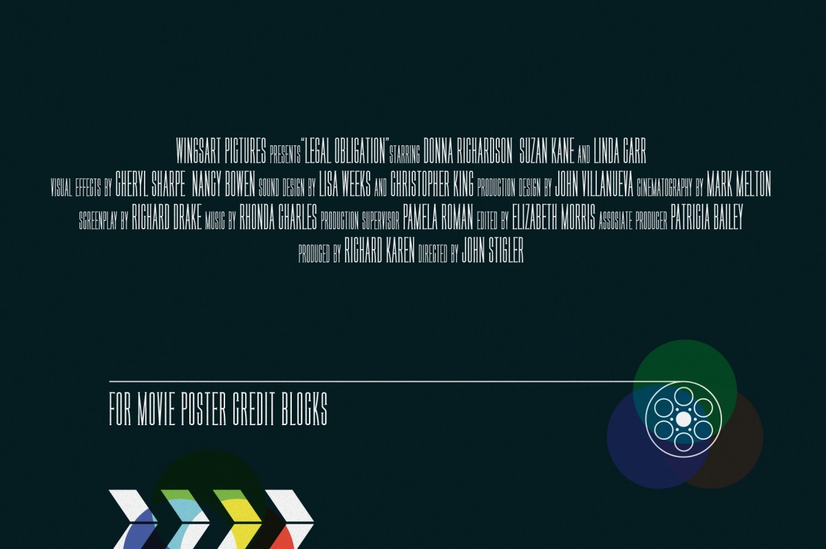 The Movie Poster Credit Block Font