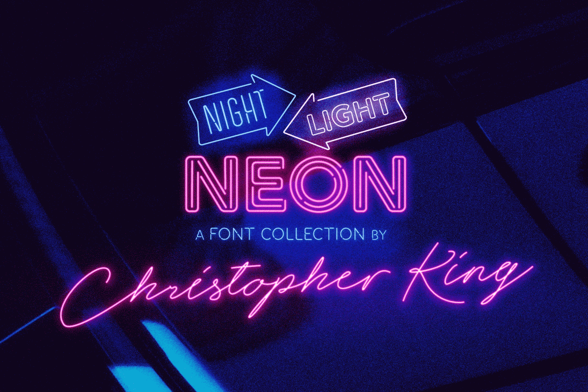 Neon Fonts Designed By Christopher King
