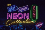 Retro Neon Font Collection by Wing's Art Studio - Free Download