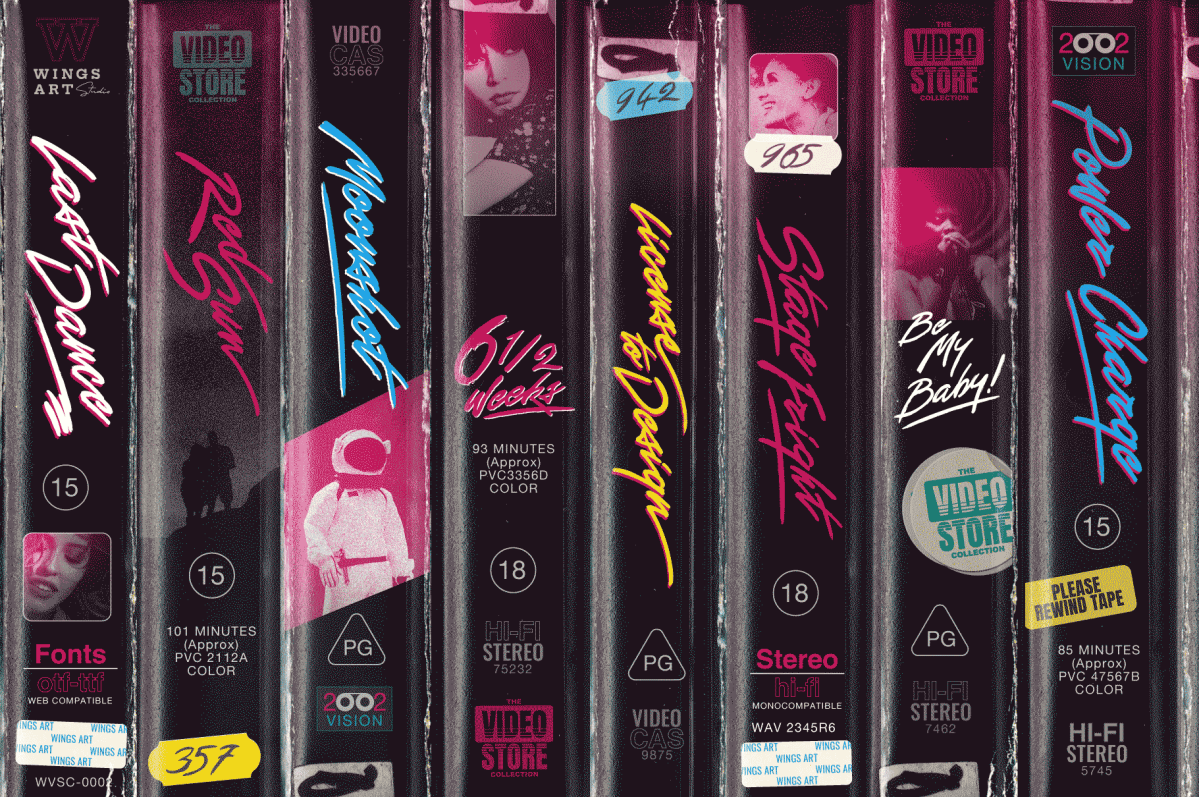 VHS Font Collection by Christopher King at Wingsart Studio