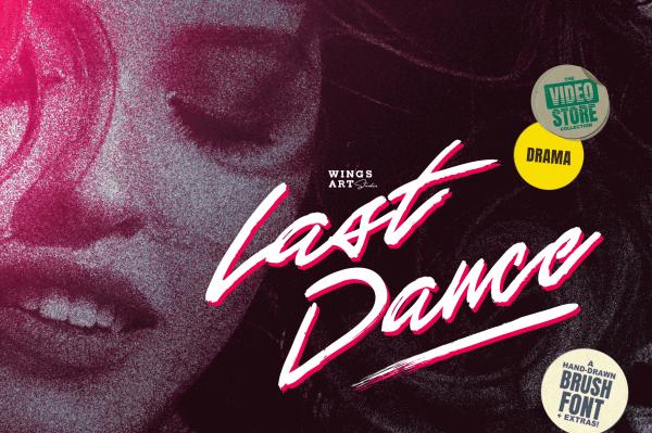Last Dance 80s VHS Script Font by Wing's Art Studio