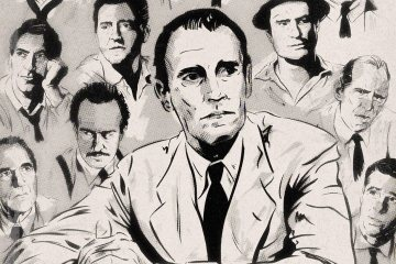 12 Angry Men Illustrated Poster