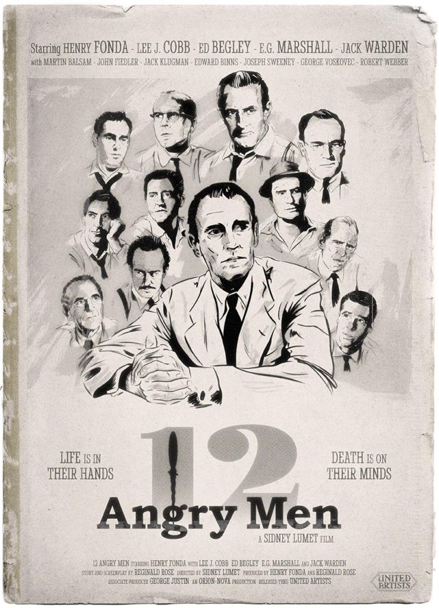 12 Angry Men Portrait Poster