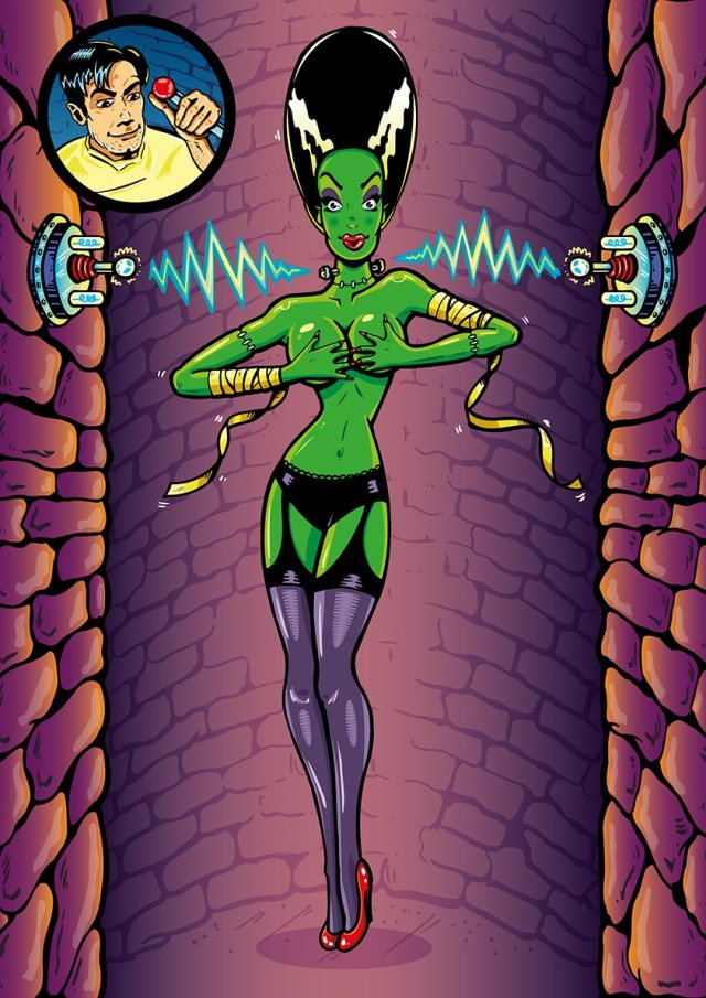 Sexy Frankenstein Pin Up