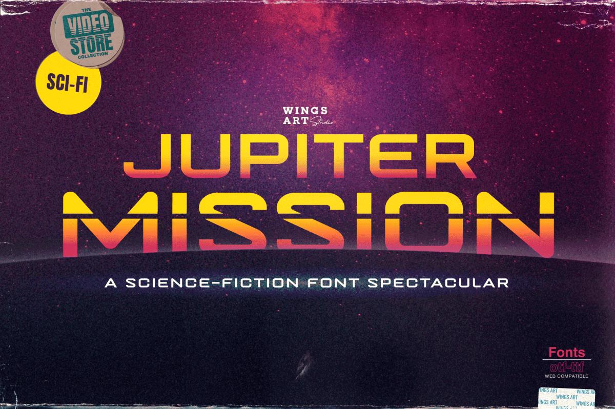 Jupiter Mission: A Science-Fiction Font Spectacular by Wingsart Studio