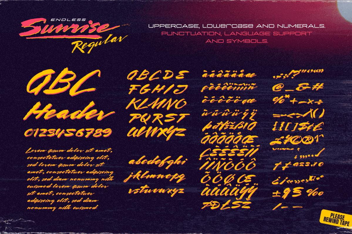 1980s Style Retro Script Font