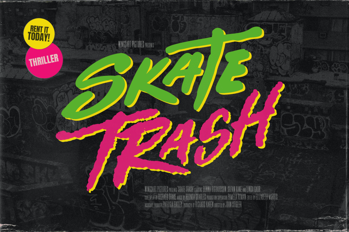 Fonts for Skate T-shirts