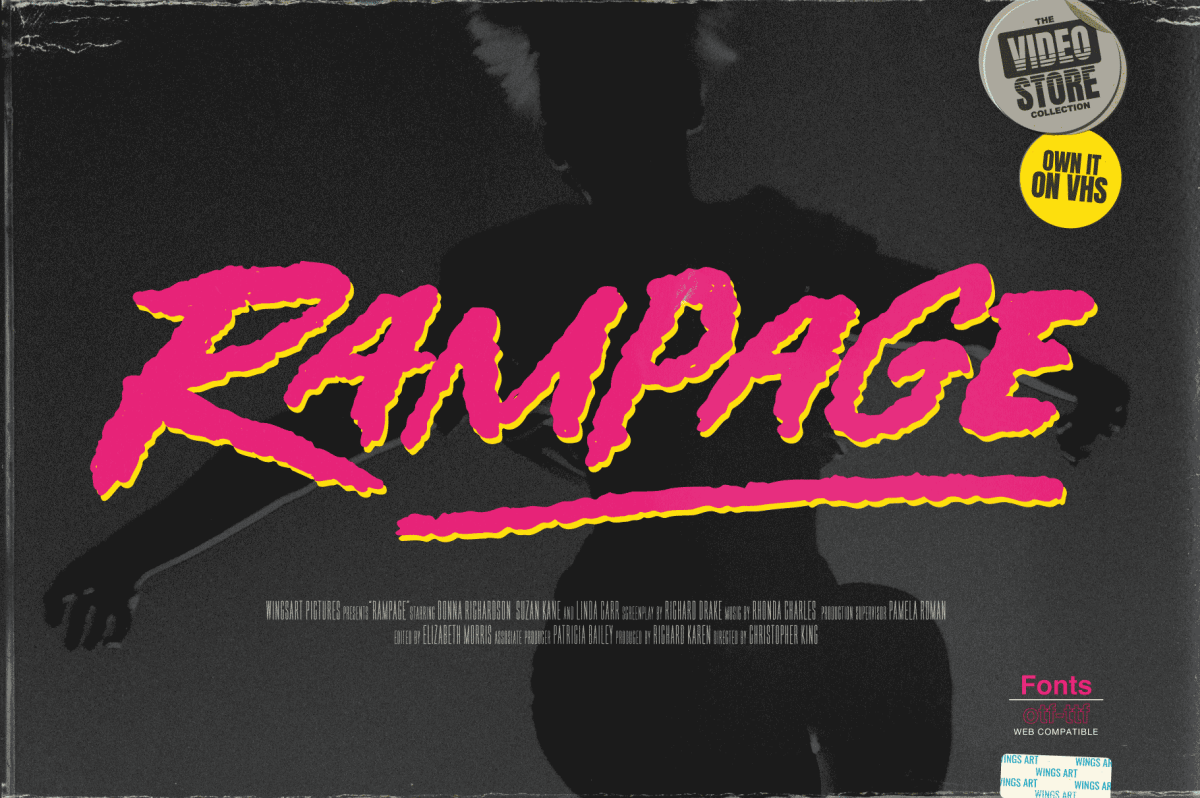 Rampage - Movie Title design by Christopher King