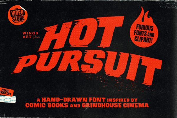 Hot Pursuit: A Hand-Drawn Grindhouse Roller Derby Font by Wingsart Studio