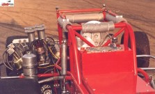 A shot from the rear of Rod Rothgarn's supermodified