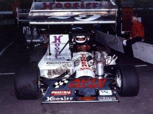 Bentley Warren in his Dunigan supermodified at Indianapolis Raceway Park 1994 B&G Racing Photos