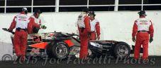 Oswego Speedway safety crew help Kody Graham after crash at Oswego Speedway