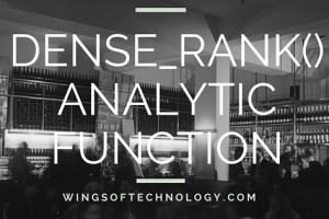 DENSE_RANK-ANALYTIC-FUNCTION