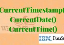 CurrentTimestamp-currentdate-currenttime-datastage