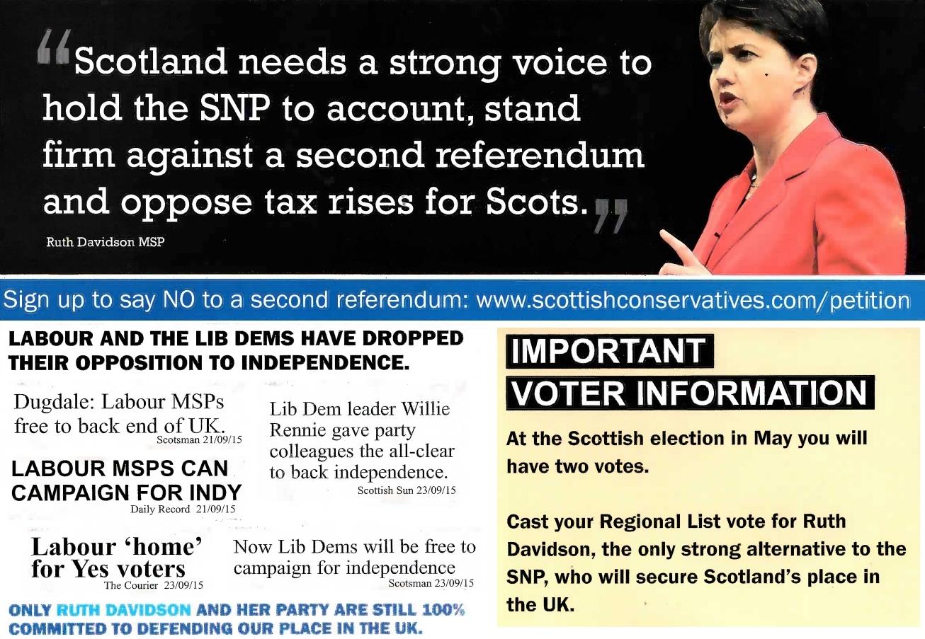 Image result for ruth davidson campaign leaflet