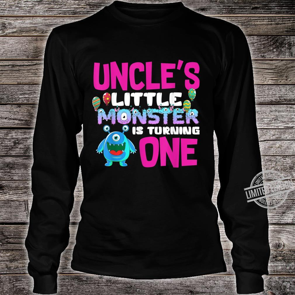 Uncle Of The Little Monster Turning 1st Birthday Family Shirt