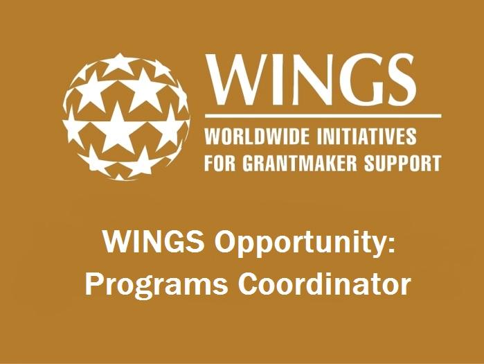 WINGS Opportunity: Programs Coordinator