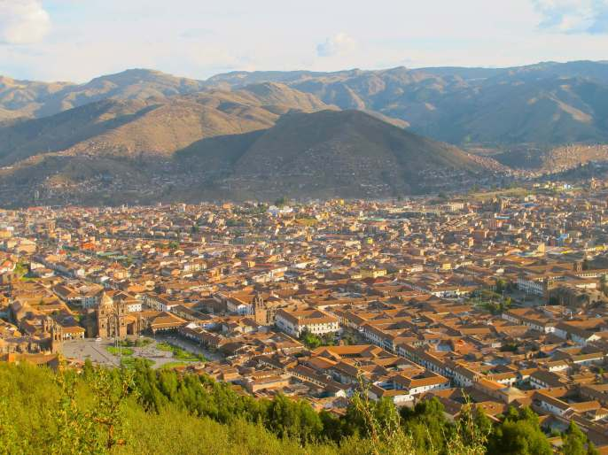 View over Cusco, Peru, South America