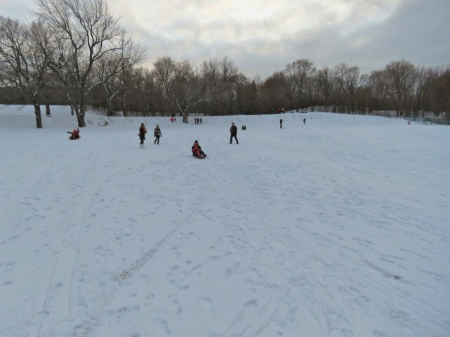 First snowfall Montreal, Le Plateau