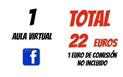 COBRO TARJETA 1 AULA VIRTUAL XAVIER GARCIA 22€ + 1€ COMISIÓN