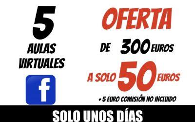 COBRO PAYPAL 0 TARJETA 5 AULAS VIRTUAL XAVIER GARCIA 50€ + 5€ COMISIÓN