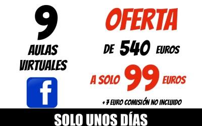 COBRO TARJETA O PAY PAL 9 AULAS VIRTUAL XAVIER GARCIA 99€ + 7€ COMISIÓN