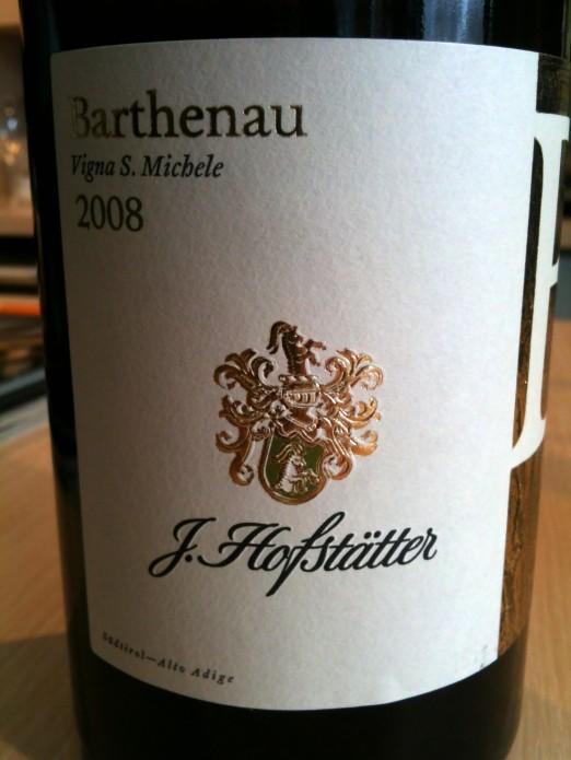 J. Hofstätter Alto Adige Pinot Bianco Barthenau Vigna S. Michele 2008