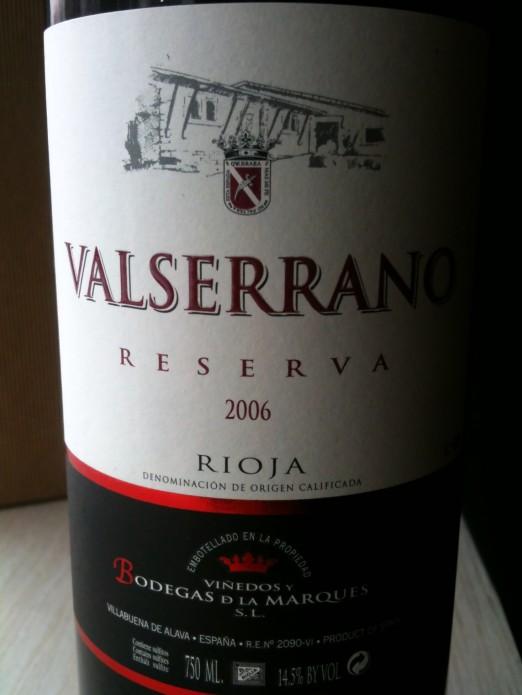 Valserrano Rioja Reserva 2006