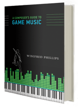 An image of the cover of the book A Composer's Guide to Game Music, written by video game composer Winifred Phillips.
