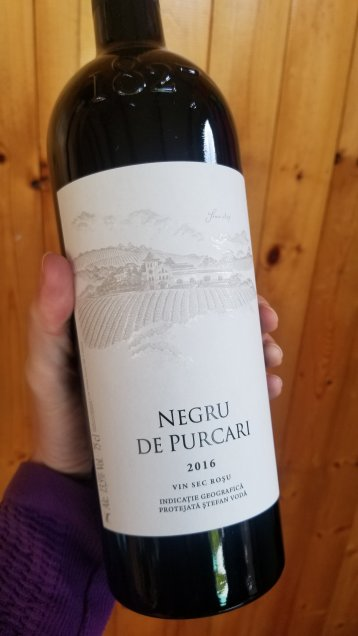 Bottle of Moldovan Negru de Purcari