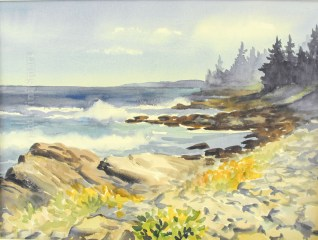 Seawall Shore by Wini Smart