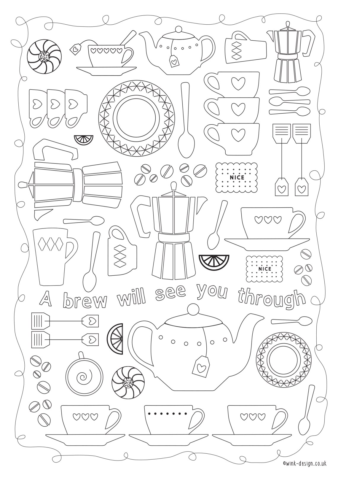 Free printable adult colouring pages for the New Year ... | free printable colouring pages quotes