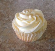 Champagne Cupcake with Mimosa Buttercream Frosting