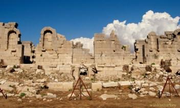 Restos de la antigua ciudad de Patara