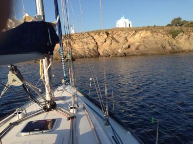 Navegando entre Izmir y las islas griegas