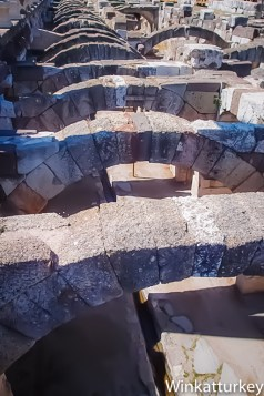 Arcos que sostenían el pórtico oeste