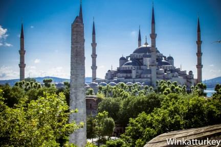 Obelisco de Constantino y Mezquita Azul