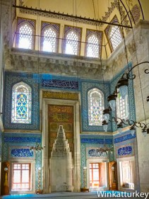 Mihrab de la mezquita muradiye