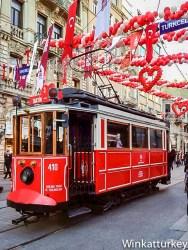 Tranvía de Istiklal el dia de San Valentin