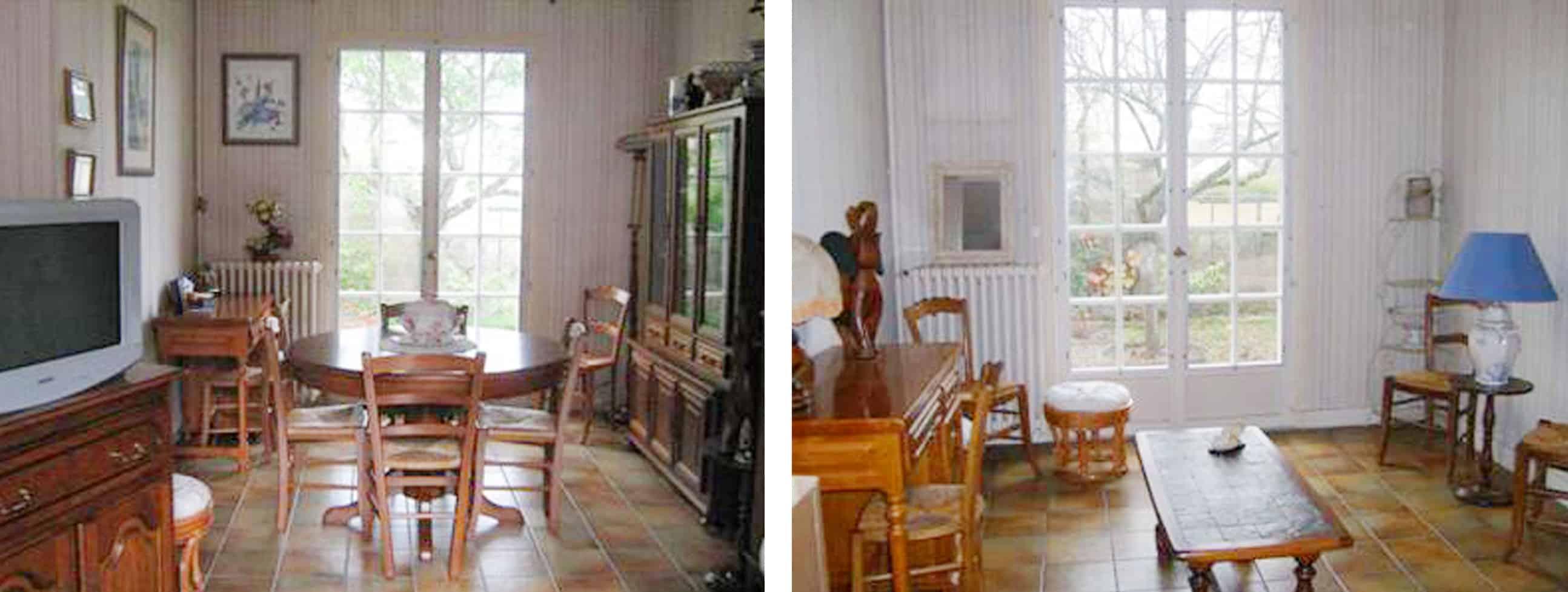 Deco Salon Sol Marron Perfect Idee Clair Parquet
