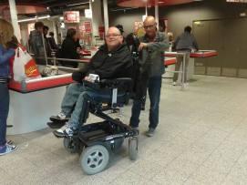 supermarkt rolstoel
