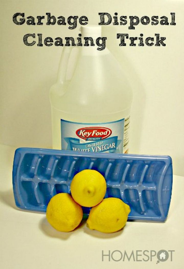 13 Home Cleaning Tips Using Normal Household Ingredients - Use ice, vinegar, and lemons to clean your garbage disposal